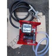 Насос для перекачки дизельного топлива помповый ( счетчик и пистолет) (топливо-раздаточная колонка) 12В