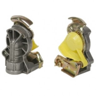 Разъем пневматический М22Х1,5 желтый без клапана